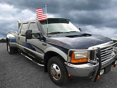 4th July Photograph - Ford F350 Super Duty Truck by Gill Billington
