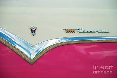 Photograph - Ford Fairlane Crown Victoria Logo Closeup by Mark Dodd