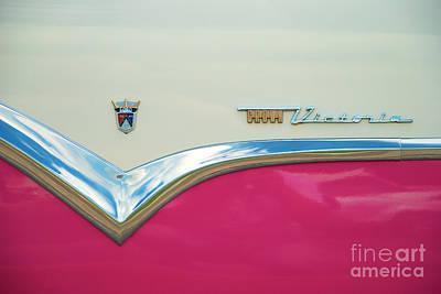 Photograph - Ford Fairlane Crown Victoria Logo Closeup by Mark Dodd