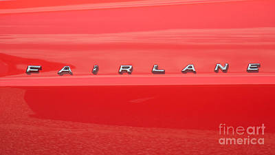 Photograph - Ford Fairlane Emblem by Mark Dodd