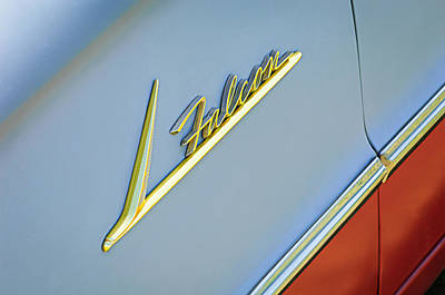 Ford Falcon Photograph - Ford Falcon Emblem by Jill Reger