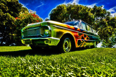 Ford Falcon Station Wagon Art Print by motography aka Phil Clark