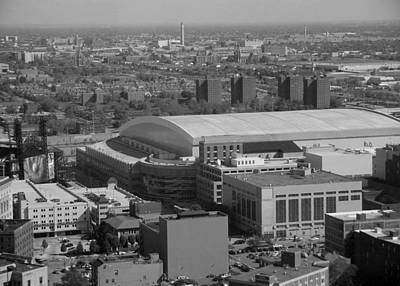 Photograph - Ford Field Bw by Crystal Hubbard