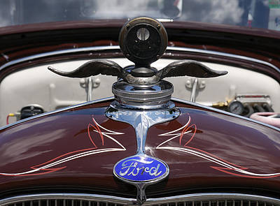 Photograph - Ford - Flying Radiator Cap by Richard Reeve
