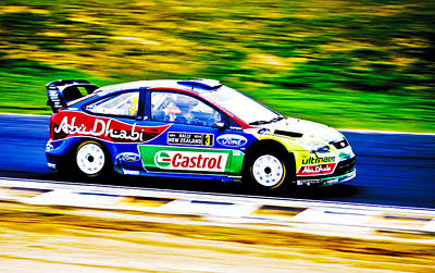 Hirvonen Photograph - Ford Focus Wrc by motography aka Phil Clark