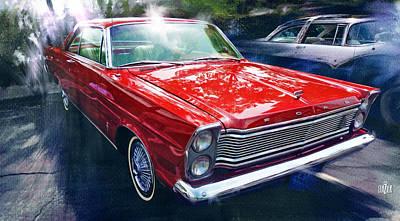 1965 Ford Galaxy 500xl In Red Original