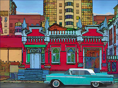 Photograph - Ford Galaxy-town-victoria 1959 by Vladimir Kholostykh