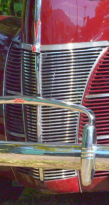 Photograph - Ford Grille by Dean Ferreira