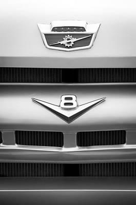 Ford Grille V8 Emblem Custom Cab Art Print by Jill Reger