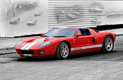 Ford Gt And Gt40 Memories Art Print