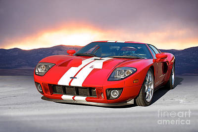 Sports Royalty-Free and Rights-Managed Images - Ford GT Day Break by Dave Koontz