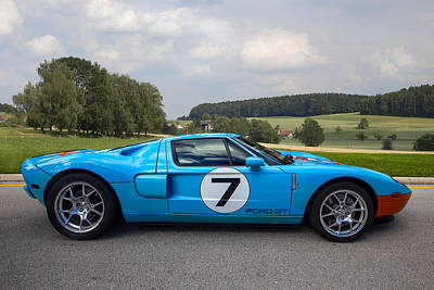 Cobra Photograph - Ford Gt by Debra and Dave Vanderlaan