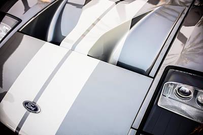 Photograph - Ford Gt Hood Emblem -0402c by Jill Reger