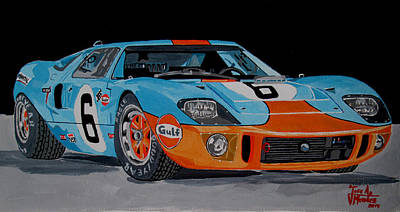 Leman Painting - Ford Gt40 by Jose Mendez