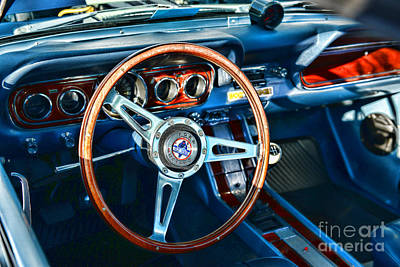 Blue Ford Photograph - Ford Gt500 Steering Wheel by Paul Ward