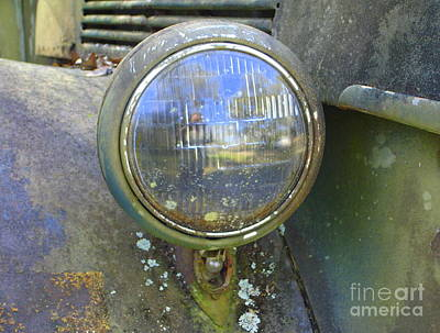Photograph - Ford Headlight by Lew Davis