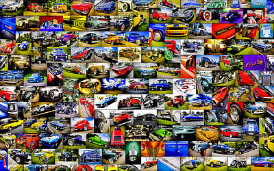 Ford Hot Rod Collage Art Print by motography aka Phil Clark