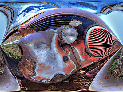 Suggestive Photograph - Ford In A Bubble by David Kehrli