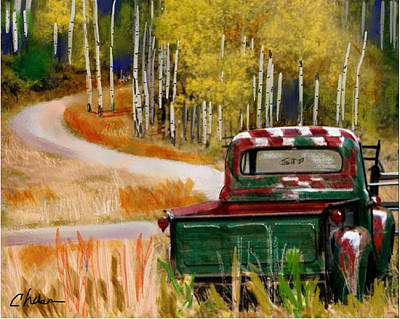 Ford In A Field Art Print by Craig Nelson