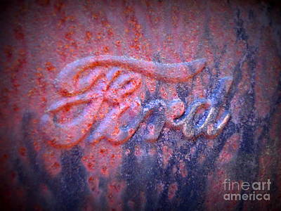 Photograph - Ford Logo 3 by Lew Davis