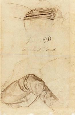Ford Madox Brown British, 1821 - 1893, Two Drapery Studies Art Print