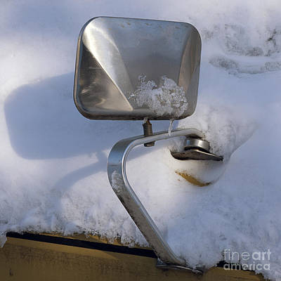 Photograph - Ford Mirror In Snow by Art Whitton