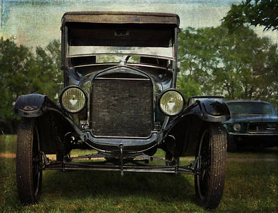 Ford Model T Vintage Car Art Print