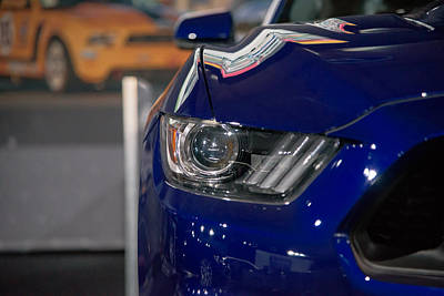 Photograph - Ford Mustang 5.0 Headlight by Alan Marlowe