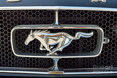 Ford Mustang Photograph - Ford Mustang Badge by George Atsametakis