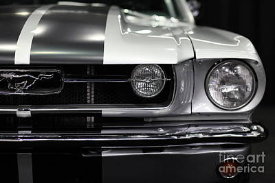 Automobile Hood Photograph - Ford Mustang Fastback - 5d20342 by Wingsdomain Art and Photography