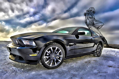 Ford Mustang - Featured In Vehicle Eenthusiast Group Art Print by EricaMaxine  Price