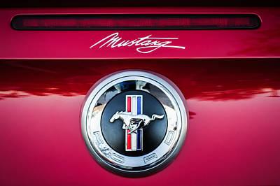 Ford Mustang Gas Cap Emblem -0002c Art Print by Jill Reger