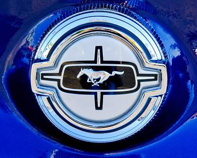 Ford Mustang Gas Cap Art Print by Jill Reger