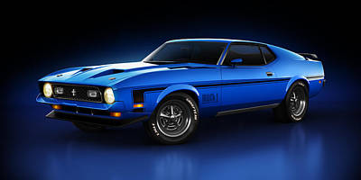 Ford Mustang Mach 1 - Slipstream Art Print