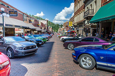 Photograph - Ford Mustang Rally Deadwood Sd by Debra Martz