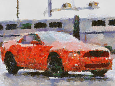 Carroll Shelby Portrait Painting - Ford Mustang V6 2013 by Teara Na