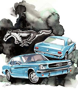 Ford Mustang Painting - Ford Mustang by Yoshiharu Miyakawa