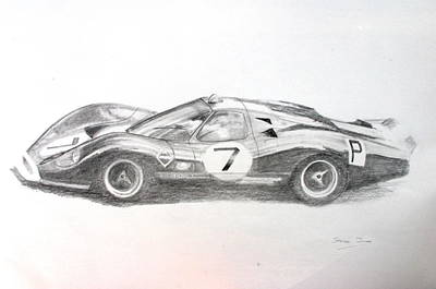 Drawing - Ford P68 by Steve Jones