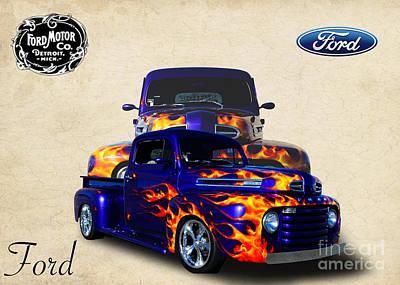 Ford Pickup Art Print by Jim  Hatch