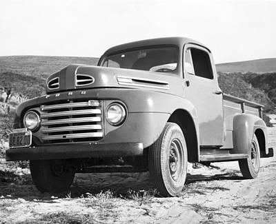 Ford Pickup Photograph - Ford Pickup Truck by Underwood Archives
