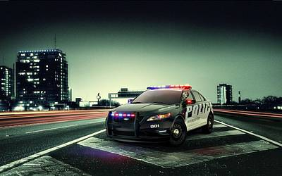 Police Art Photograph - Ford Police Interceptor by Movie Poster Prints