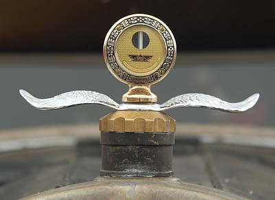 Colorado Railroad Museum Photograph - Ford Radiator Pressure Gauge Ornament  by Ken Smith