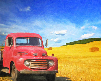 Painting - Ford Red by Melody McBride