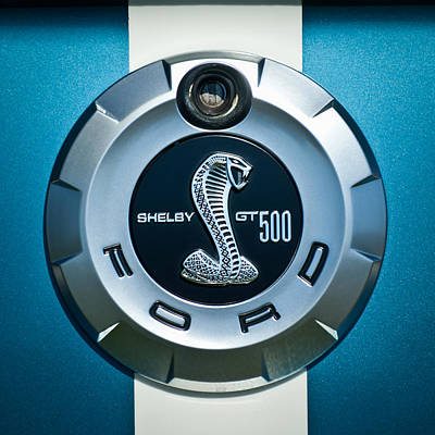 Cobra Photograph - Ford Shelby Gt 500 Cobra Emblem by Jill Reger