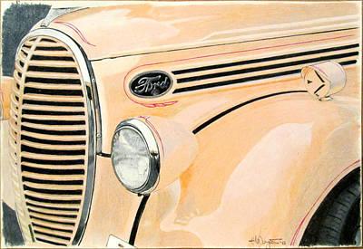 Ford Sixty Shades Of Peach Original by Hal Weyant