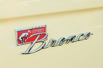 Ford Sport Bronco Emblem Art Print by Jill Reger