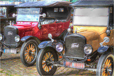 Steampunk Royalty-Free and Rights-Managed Images - Ford-T  Mobiles of the 20th by Heiko Koehrer-Wagner