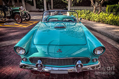 Ford Thunderbird  Art Print by Adrian Evans