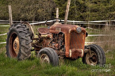 Ford Tractor Art Print by Alana Ranney