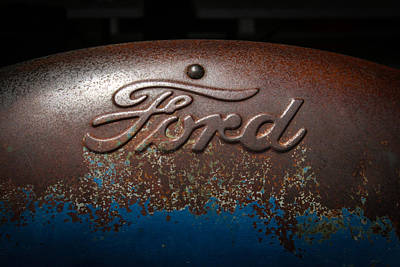 Photograph - Ford Tractor Logo by Jeff Mize